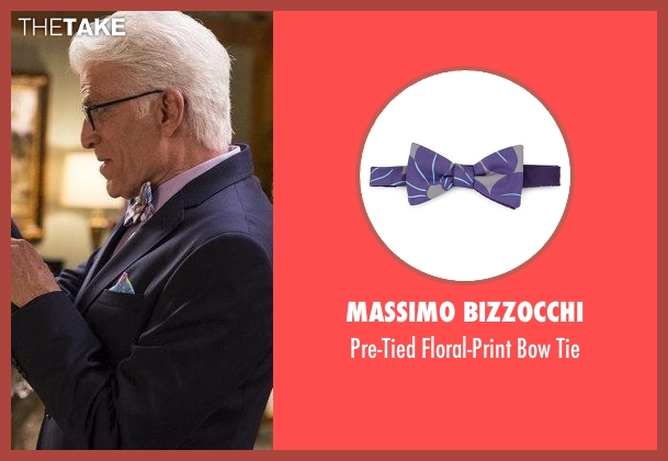 Massimo Bizzocchi purple tie from The Good Place seen with Michael (Ted Danson)