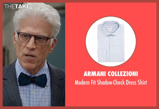 Armani Collezioni white shirt from The Good Place seen with Michael (Ted Danson)