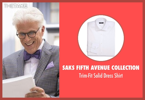 Saks Fifth Avenue Collection white shirt from The Good Place seen with Michael (Ted Danson)
