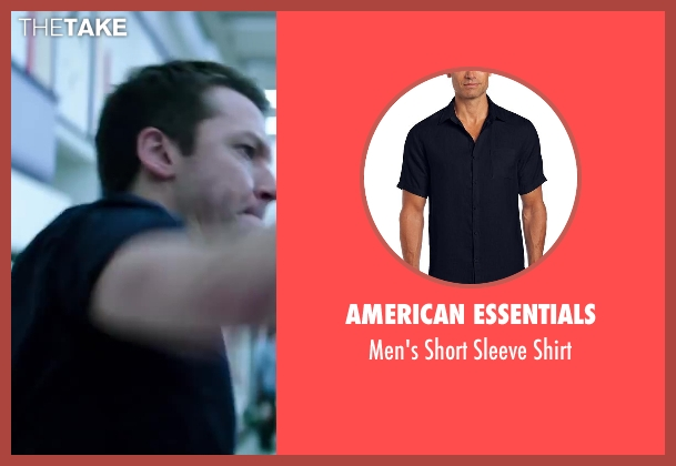 American Essentials blue shirt from Wish I Was Here seen with Michael Weston (Jerry)
