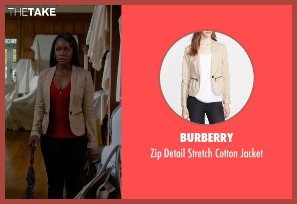 Burberry beige jacket from How To Get Away With Murder seen with Michaela Pratt (Aja Naomi King)