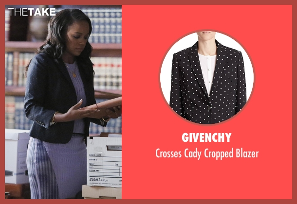 Givenchy black blazer from How To Get Away With Murder seen with Michaela Pratt (Aja Naomi King)