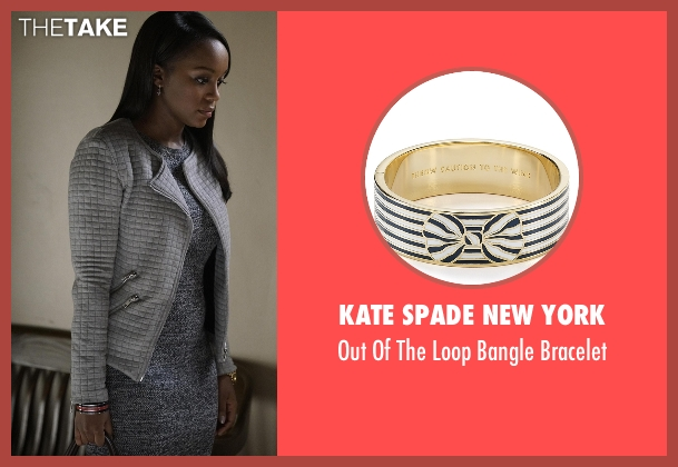 Kate Spade New York black bracelet from How To Get Away With Murder seen with Michaela Pratt (Aja Naomi King)