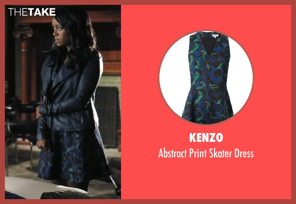 Kenzo black dress from How To Get Away With Murder seen with Michaela Pratt (Aja Naomi King)