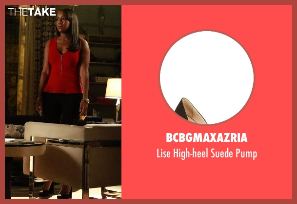 BCBGMaxazria black pump from How To Get Away With Murder seen with Michaela Pratt (Aja Naomi King)