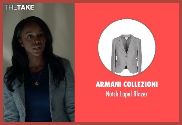 Armani Collezioni blazer from How To Get Away With Murder seen with Michaela Pratt (Aja Naomi King)