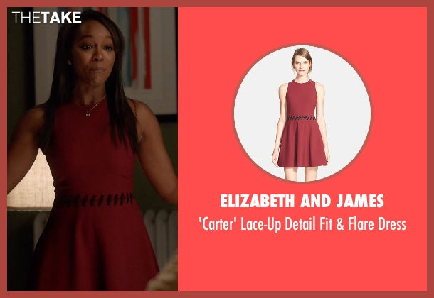 Elizabeth and James dress from How To Get Away With Murder seen with Michaela Pratt (Aja Naomi King)