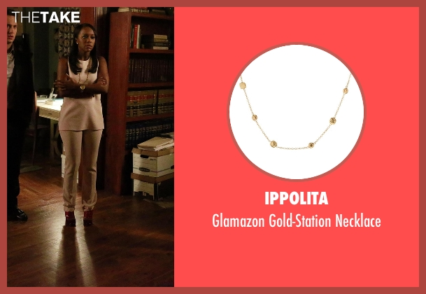 Ippolita gold necklace from How To Get Away With Murder seen with Michaela Pratt (Aja Naomi King)