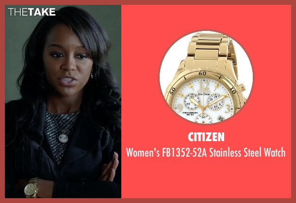 Citizen gold watch from How To Get Away With Murder seen with Michaela Pratt (Aja Naomi King)