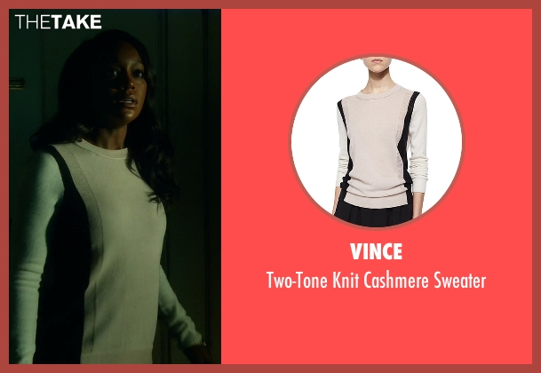 Vince gray sweater from How To Get Away With Murder seen with Michaela Pratt (Aja Naomi King)