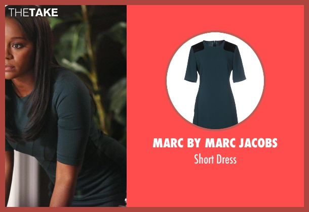 Marc By Marc Jacobs green dress from How To Get Away With Murder seen with Michaela Pratt (Aja Naomi King)
