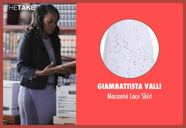 Giambattista Valli purple skirt from How To Get Away With Murder seen with Michaela Pratt (Aja Naomi King)