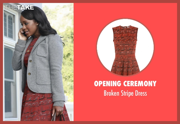 Opening Ceremony red dress from How To Get Away With Murder seen with Michaela Pratt (Aja Naomi King)