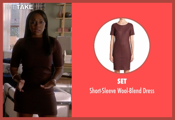 Set red dress from How To Get Away With Murder seen with Michaela Pratt (Aja Naomi King)