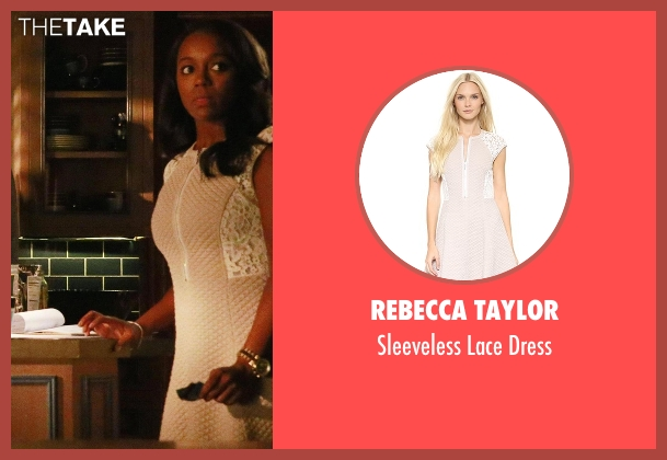 Rebecca Taylor white dress from How To Get Away With Murder seen with Michaela Pratt (Aja Naomi King)