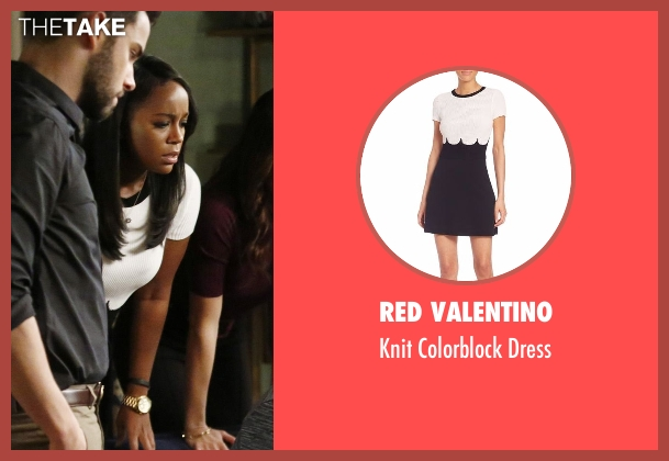 RED Valentino white dress from How To Get Away With Murder seen with Michaela Pratt (Aja Naomi King)