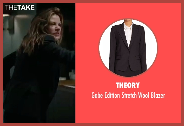 Theory black blazer from Sleepless seen with Michelle Monaghan (Unknown Character)