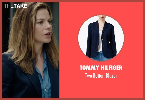 Tommy Hilfiger blue blazer from Sleepless seen with Michelle Monaghan (Unknown Character)