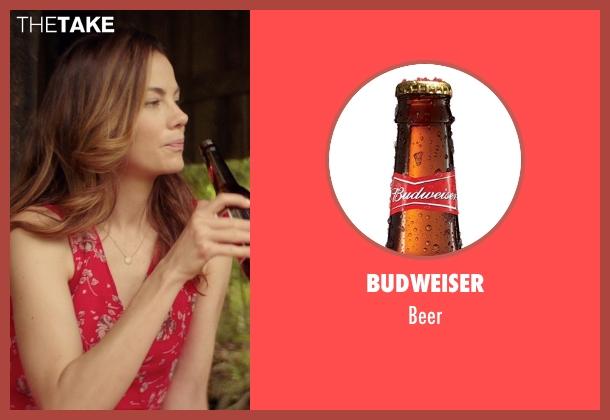 Budweiser beer from The Best of Me seen with Michelle Monaghan (Amanda Collier)