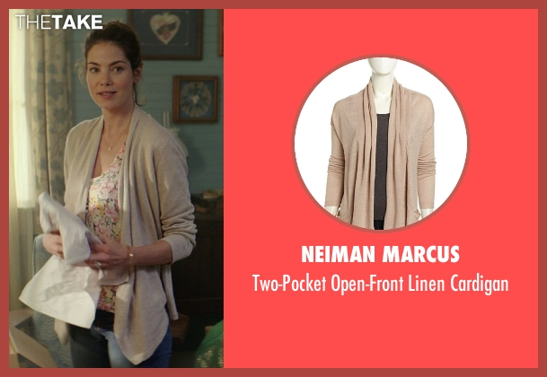 Neiman Marcus beige cardigan from The Best of Me seen with Michelle Monaghan (Amanda Collier)