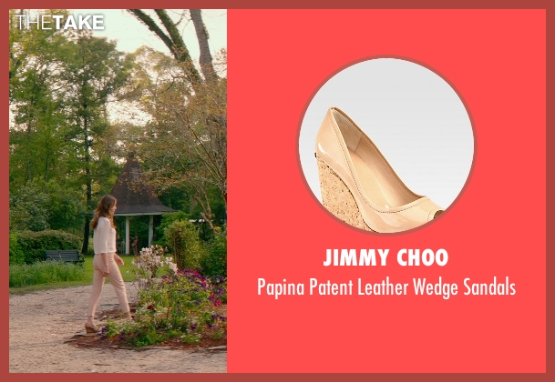 Jimmy Choo beige sandals from The Best of Me seen with Michelle Monaghan (Amanda Collier)