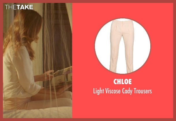 Chloe beige trousers from The Best of Me seen with Michelle Monaghan (Amanda Collier)