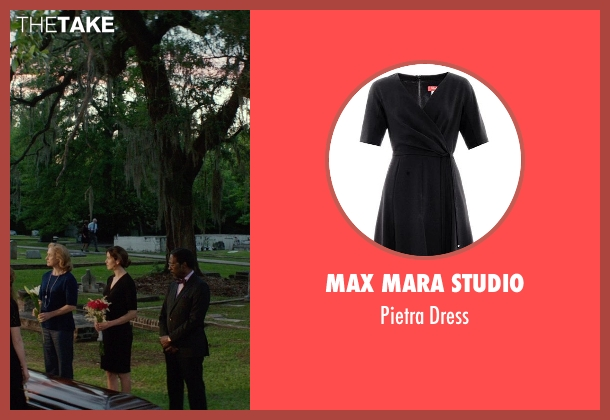Max Mara Studio black dress from The Best of Me seen with Michelle Monaghan (Amanda Collier)