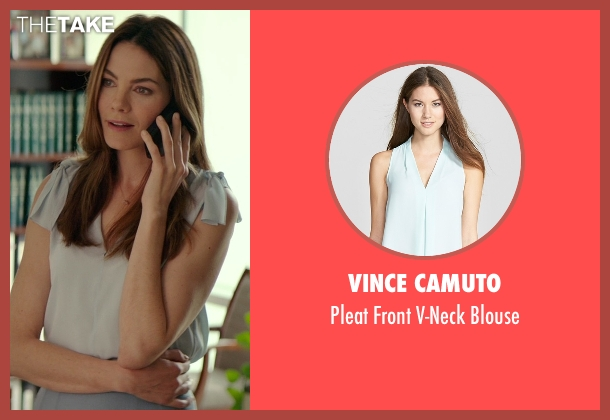 Vince Camuto blue blouse from The Best of Me seen with Michelle Monaghan (Amanda Collier)