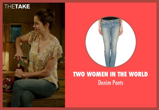 Two Women in the World blue pants from The Best of Me seen with Michelle Monaghan (Amanda Collier)