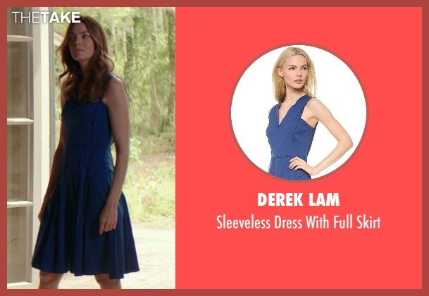Derek Lam blue skirt from The Best of Me seen with Michelle Monaghan (Amanda Collier)