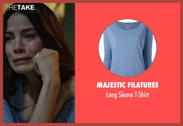 Majestic Filatures blue t-shirt from The Best of Me seen with Michelle Monaghan (Amanda Collier)