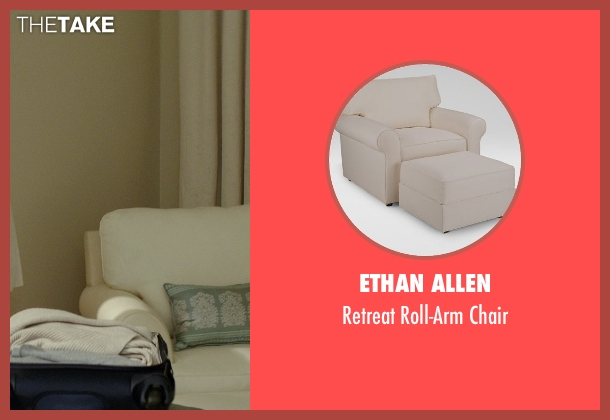 Ethan Allen chair from The Best of Me seen with Michelle Monaghan (Amanda Collier)