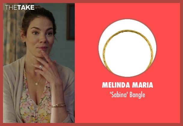 Melinda Maria gold bangle from The Best of Me seen with Michelle Monaghan (Amanda Collier)