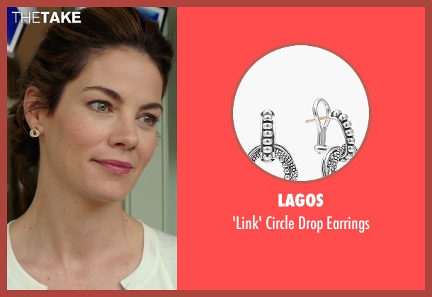 Lagos gold earrings from The Best of Me seen with Michelle Monaghan (Amanda Collier)