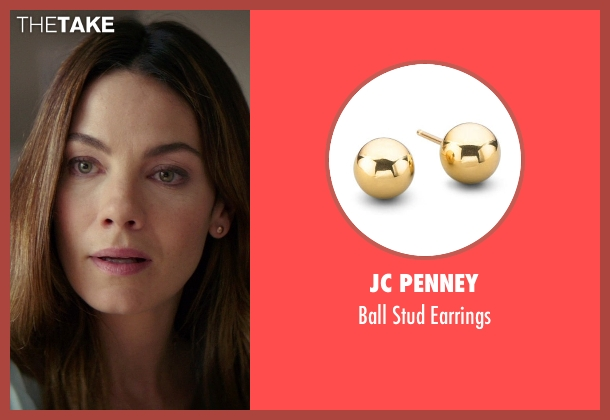 JC Penney gold earrings from The Best of Me seen with Michelle Monaghan (Amanda Collier)