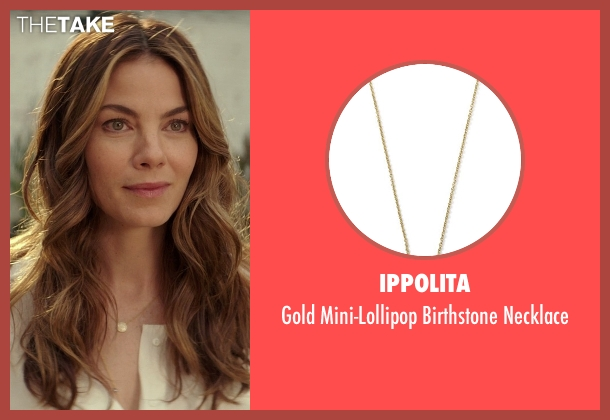 Ippolita gold necklace from The Best of Me seen with Michelle Monaghan (Amanda Collier)
