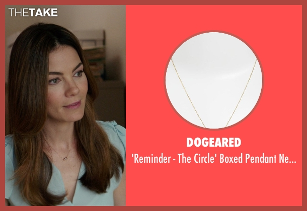 Dogeared gold necklace from The Best of Me seen with Michelle Monaghan (Amanda Collier)