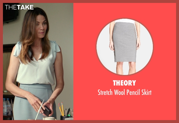 Theory gray skirt from The Best of Me seen with Michelle Monaghan (Amanda Collier)