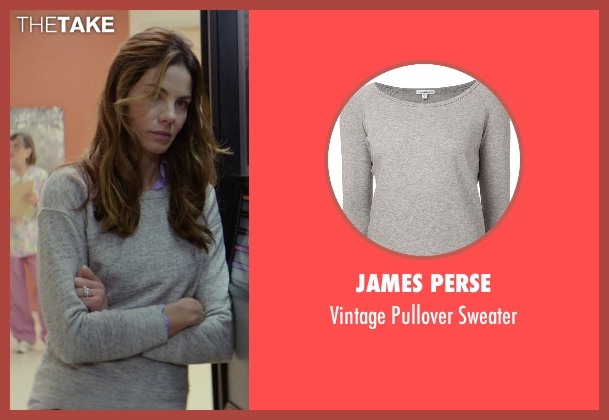 James Perse gray sweater from The Best of Me seen with Michelle Monaghan (Amanda Collier)