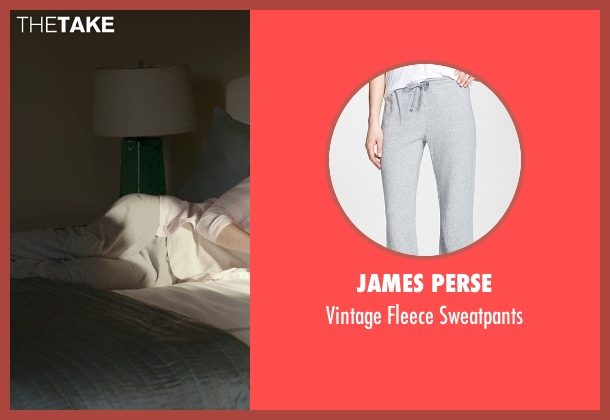 James Perse gray sweatpants from The Best of Me seen with Michelle Monaghan (Amanda Collier)