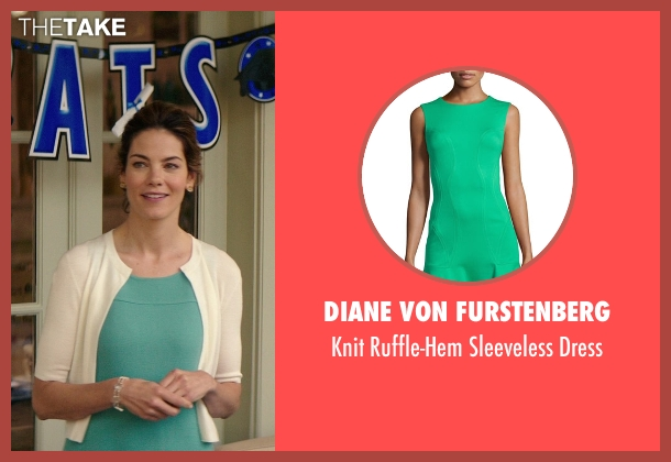 Diane Von Furstenberg green dress from The Best of Me seen with Michelle Monaghan (Amanda Collier)
