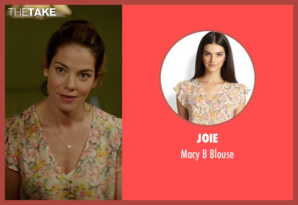 Joie pink blouse from The Best of Me seen with Michelle Monaghan (Amanda Collier)