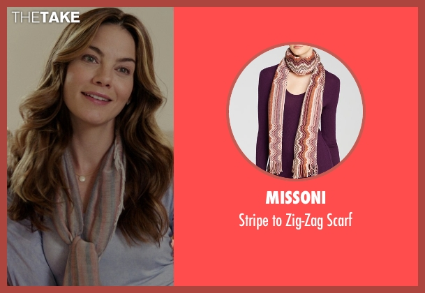 Missoni pink scarf from The Best of Me seen with Michelle Monaghan (Amanda Collier)