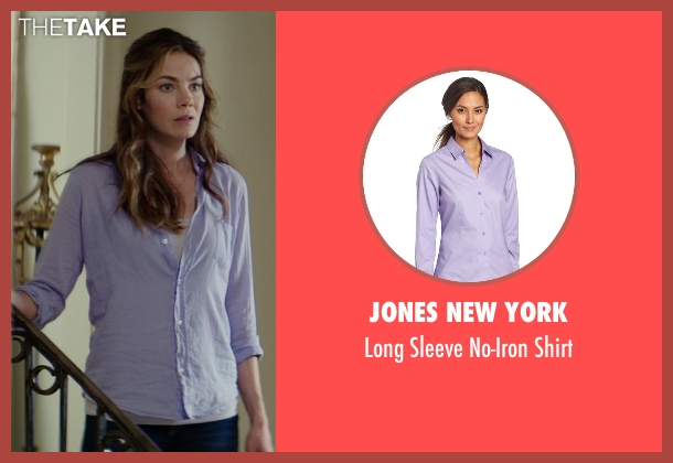 Jones New York purple shirt from The Best of Me seen with Michelle Monaghan (Amanda Collier)