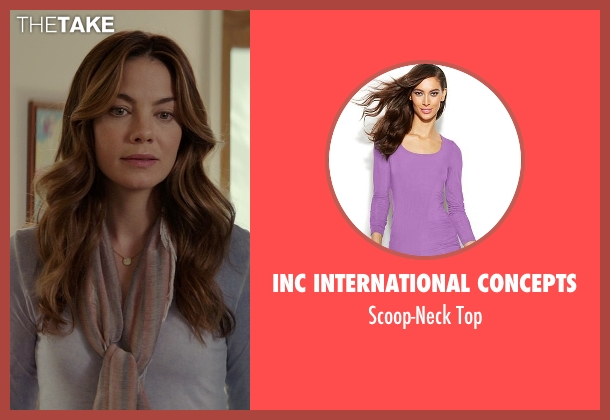 INC International Concepts purple top from The Best of Me seen with Michelle Monaghan (Amanda Collier)