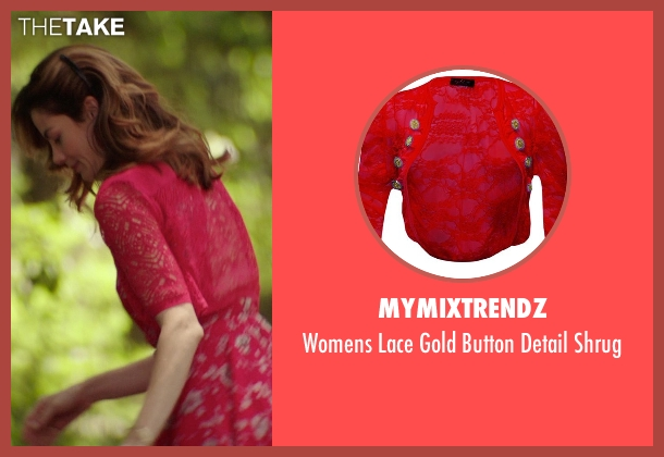 MyMixTrendz red shrug from The Best of Me seen with Michelle Monaghan (Amanda Collier)
