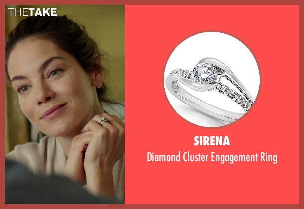 Sirena silver ring from The Best of Me seen with Michelle Monaghan (Amanda Collier)