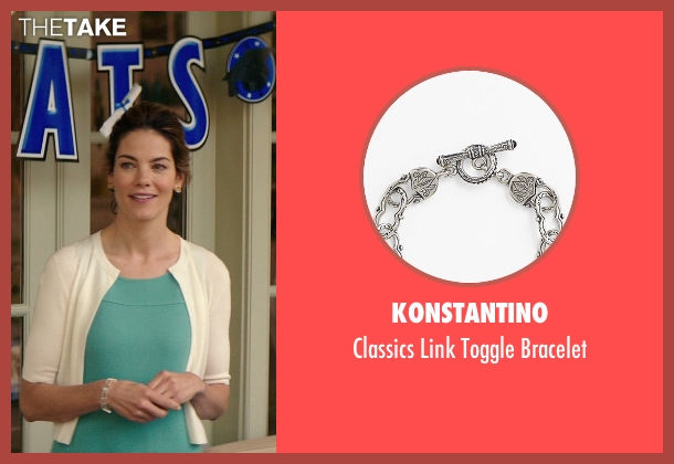 Konstantino white bracelet from The Best of Me seen with Michelle Monaghan (Amanda Collier)