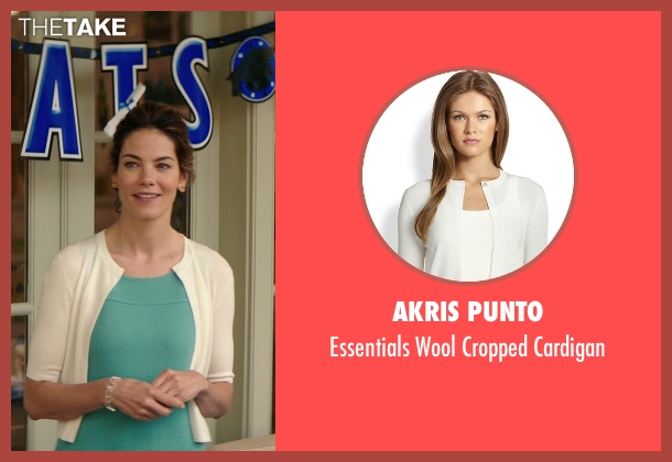 Akris Punto white cardigan from The Best of Me seen with Michelle Monaghan (Amanda Collier)