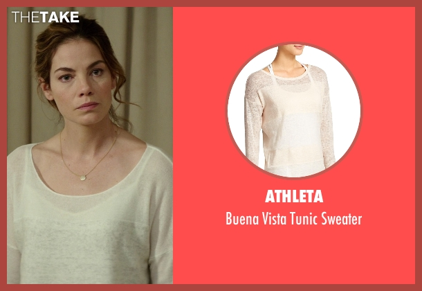 Athleta white sweater from The Best of Me seen with Michelle Monaghan (Amanda Collier)